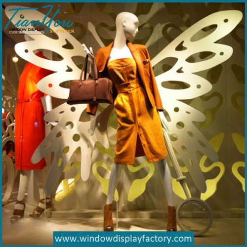 Custom Acrylic Butterfly Wing Decoration Window Display Props