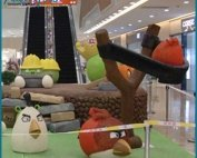 Handmade Fake Fiberglass Angry Birds Giant Display