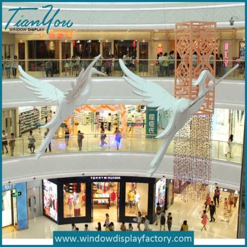 Giant Single Color Fiberglass Bird Mall Display