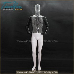 Plastic ghost invisible mannequin male