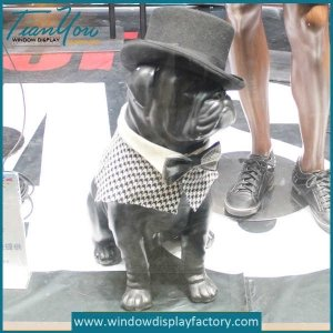 Window Display Props Fiberglass Dogs Mannequin