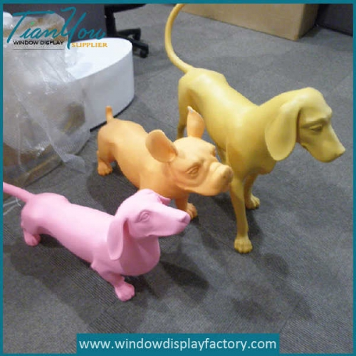 Custom Promotional Outdoor Decorative Fiberglass Dog Statues