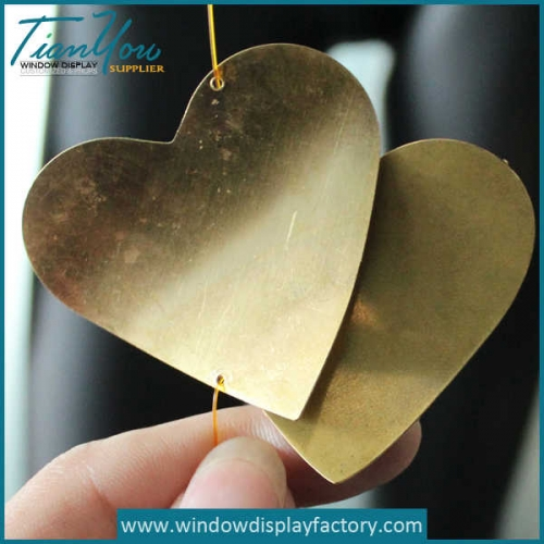 Custom Decoration Metal Heart Display Props