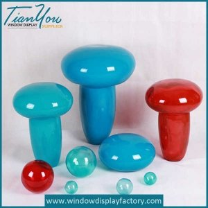 Handmade Fiberglass Mashroom Theme Park Decoration