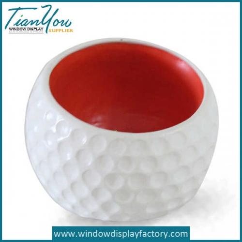 Decorative Indoor Ball Fiberglass Plant Pot