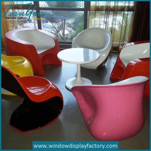Creative furniture set fiberglass table chairs