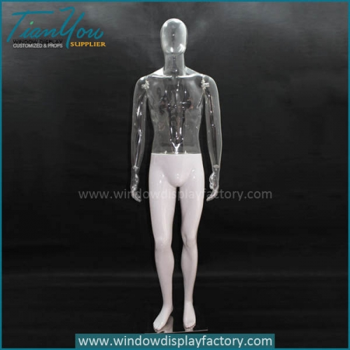 transparent plastic male mannequin
