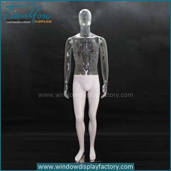 transparent plastic male mannequin