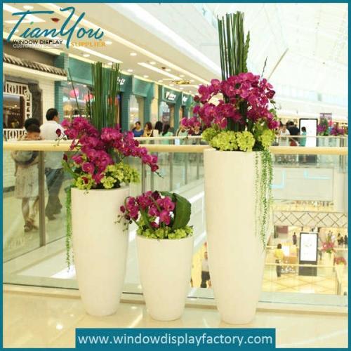Decorative Giant Fiberglass Floor Vase Display Props