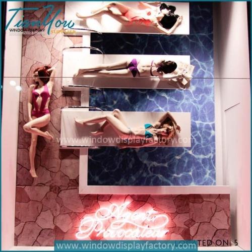 Underwear brands Agent Provocateur windows display