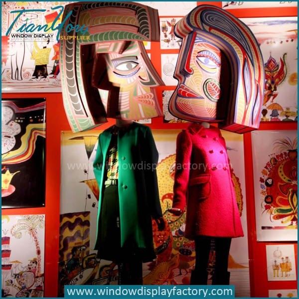 Custom Giant Colored Fiberglass Arab Puppet Mannequin