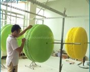 Giant Hand Made Fiberglass Colorful Macaroon Display