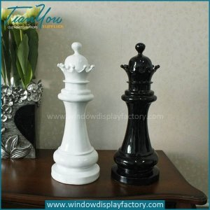 Life Size Custom Outdoor Plastic Chess Queen Display