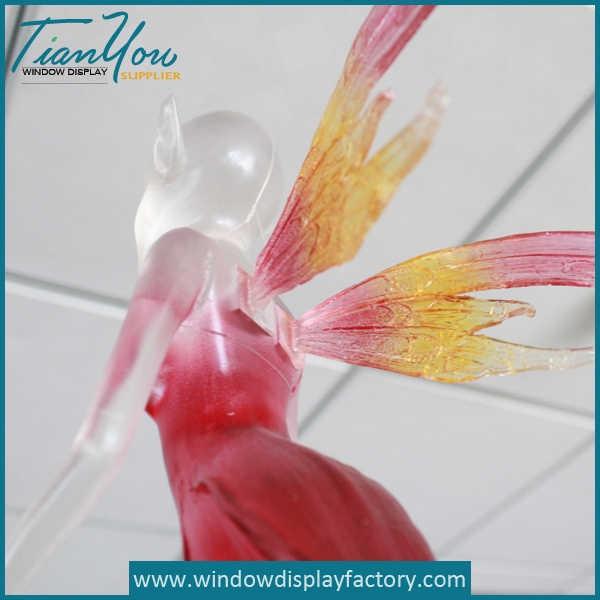 Colorful Custom Acrylic Angel Wing Decoration