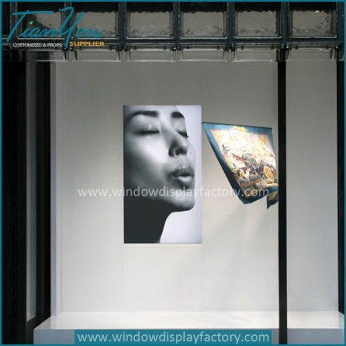 Photograph frames retail window display backdrops