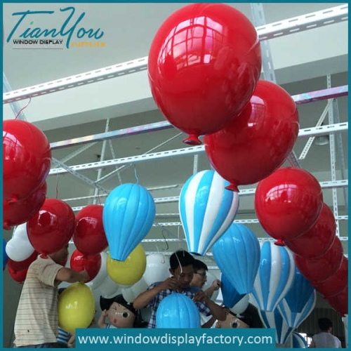 Giant Colorful Decoration Fiberglass Hot Air Baloon