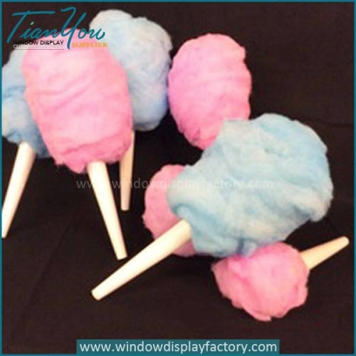 Decorative Colorful Tasty Cotton Candy Display
