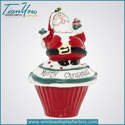 Ceramic Christmas Gift Decoration Mini Santa Claus Craft