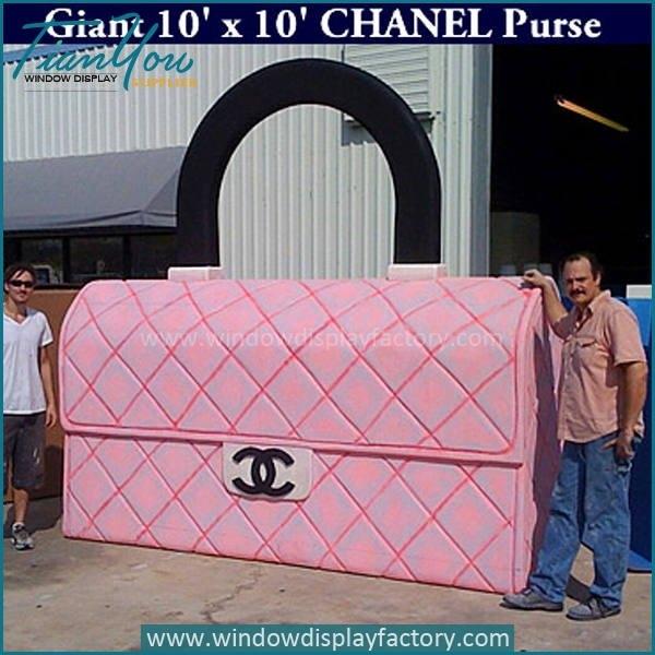 Giant Outdoor Fiberglass Chanel Purse Display