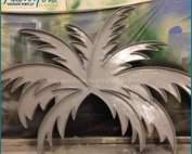 Vintage Giant Fiberglass Coconut Leaf Decoration