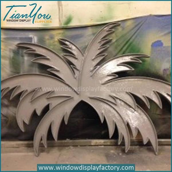 Vintage Giant Fiberglass Coconut Leaf Decoration