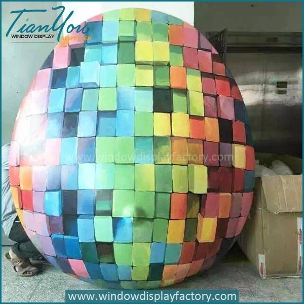 Manual Colorful Large Foam Egg Display Props