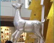 Outdoor Decorative Fiberglass Christmas Deer Statues