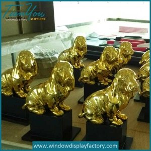 Handmade Decorative Life Size Resin Dog Craft