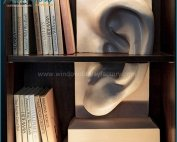 Impressive Big White Fiberglass Ear Statue Decoration
