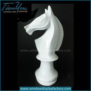 Giant Elegant Decoration Fiberglass Chess Knight Display