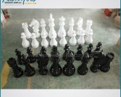 Black White Fashion Custom Plastic Chess Set