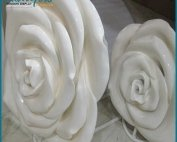 Giant Pure White Fiberglass Flower Statues