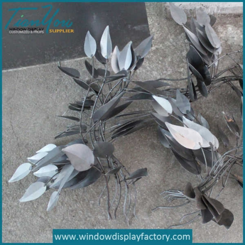 Custom Fake Metal Leaf Display Props