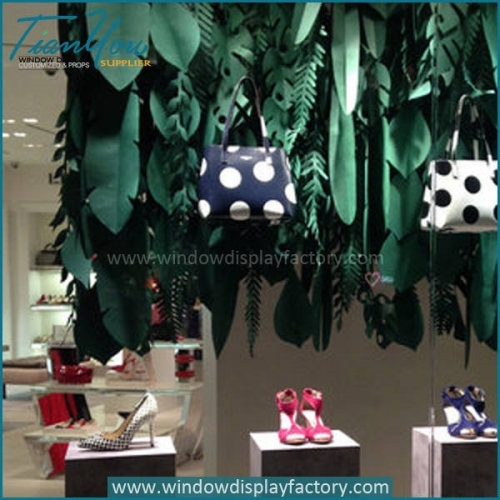 Custom Large Paper Leaves Shop Window Displays