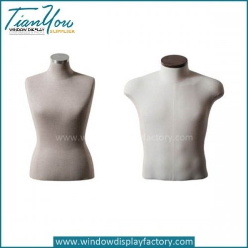 Latest Custom Half Body Linen Torso Mannequin