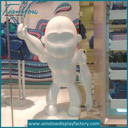 Window Display Fiberglass Monkey Statues