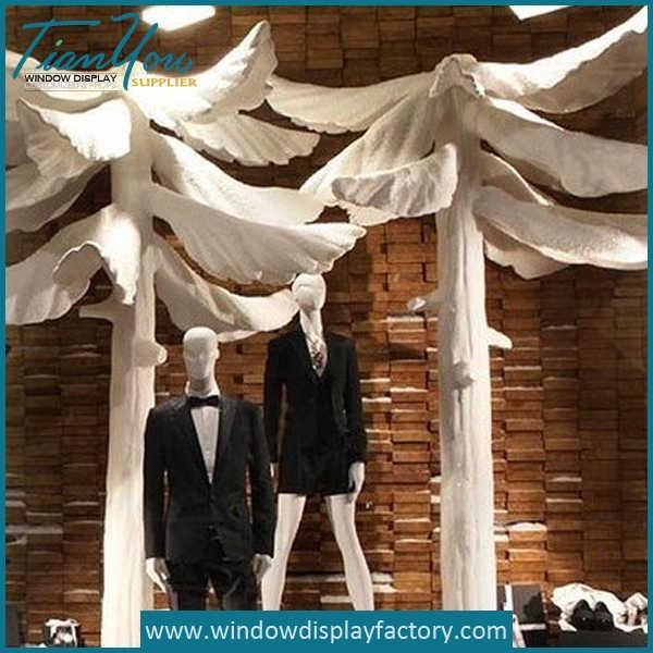 Display Props Giant White Fiberglass Moshrom Decor