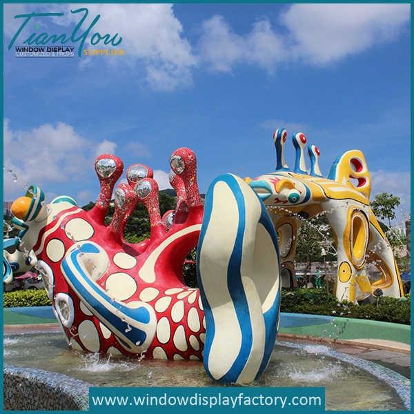 Giant Outdoor Amusement Park Fiberglass Statues