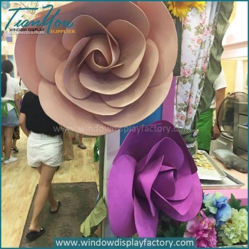 Colorful Giant Custom PVC Flowers Display