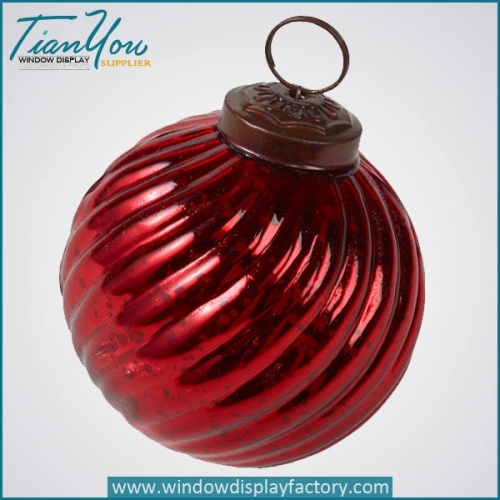 Electroplate Colorful Cute Resin Christmas Ball Decoration