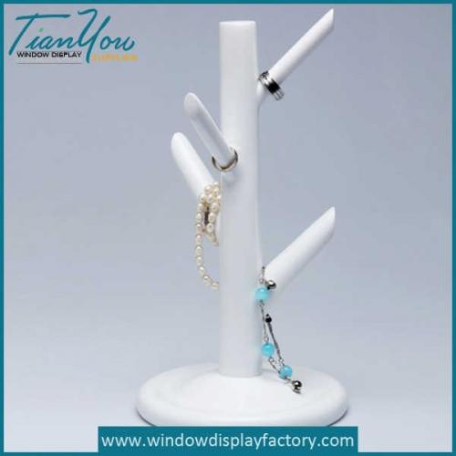Custom White Resin Ring Tree Display Props