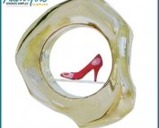 Custom Red Fiberglass Shoes Statues Display