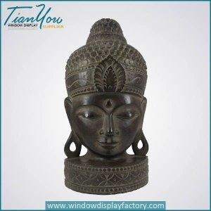 Antique Craft Fiberglass Brass Color Buddha Head