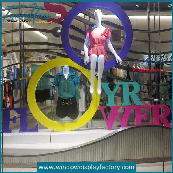 Giant Colored Acrylic Loop Letters Window Display