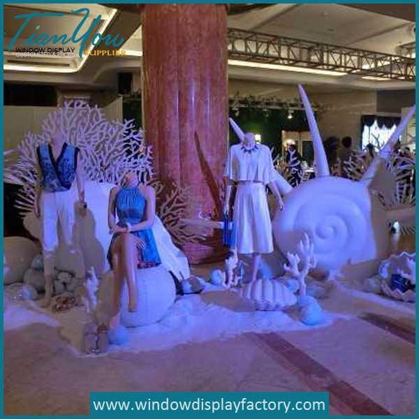Custom White Theme Foam Displays Props