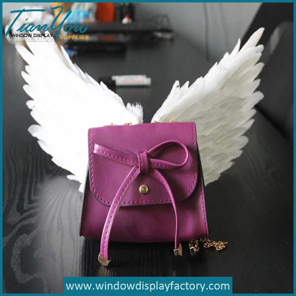 White Fake Feather Angel Wing Decoration